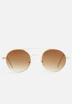 Superbalist - Lennon inspired sunglasses - brown & gold