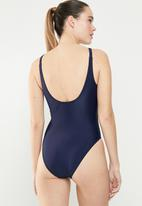 adidas Originals - Trefoil swimsuit - navy