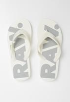 G-Star RAW - Dend flip flops - white & grey
