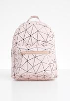 POP CANDY - Geometric backpack -  pink & black