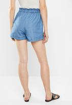 Cotton On - Maisy paper-bag shorts - blue