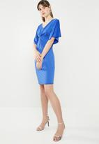 c(inch) - Knot front dress - blue