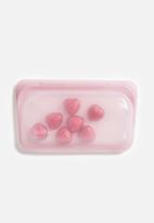 Stasher - Reusable silicone snack bag - rose quartz