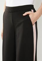 ONLY - Roma wide leg panel pants - black