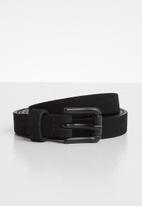 Vero Moda - Astral slim leather jeans belt - black