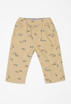 POP CANDY - Printed clamdigger shorts - beige