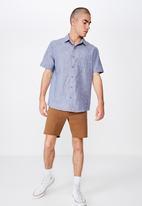 Cotton On - Premium short sleeve shirt - blue