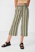 Cotton On - Sophie culotte - green & white