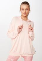 Cotton On - Long line spring hoodie  - pink