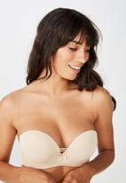 Cotton On - Sophia lace strapless push up 2 bra - neutral