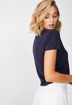 Cotton On - The baby tee - navy