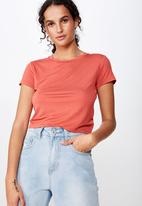 Cotton On - The baby tee - coral
