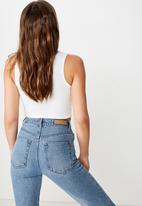 Cotton On - The sister crop tank - white