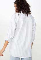 Cotton On - Pippa oversize shirt - blue & white