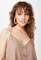 Cotton On - Allie button front cami - brown