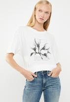 G-Star RAW - Rijks graphic boyfriend tee - white