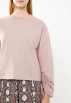 Superbalist - Drawstring detail sweat - pink