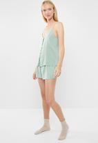Superbalist - Sleep cami & shorts set - green
