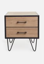 Sixth Floor - Penn 2-drawer bedside table - natural