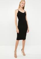 Superbalist - Rib dress - black