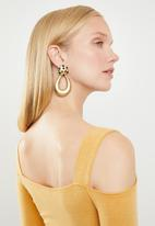 Superbalist - Cold shoulder wrap front bodycon dress - yellow