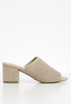 Call It Spring - Block heel mule - beige