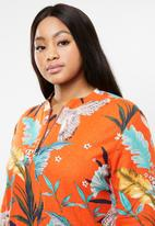 AMANDA LAIRD CHERRY - Plus size buang tunic  - orange