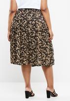 Superbalist - Pleated midi skirt - brown & beige