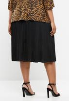 Superbalist - Pleated midi skirt - black