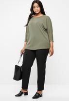 edit Plus - Batwing blouse - green
