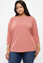 edit Plus - Batwing blouse - pink