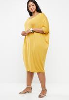 edit Plus - Back detail dress - yellow