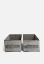 Sixth Floor - Rectangular storage box set of 2 - grey