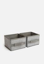 Sixth Floor - Storage box set set of 4 - grey