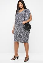edit Plus - Drape easy fit dress - grey
