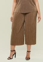 Superbalist - Boxy plisse culottes - brown