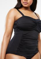 Jacqueline Plus - Knot detail one piece - black
