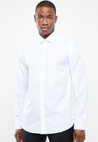 POLO - Custom fit work shirt - white