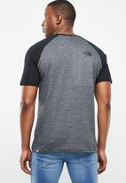 The North Face - M s/s raglan easy tee - black & charcoal