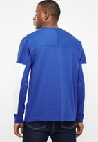 adidas Originals - Vocal j long sleeve tee - blue & white