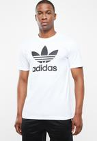 adidas Originals - Trefoil crew short sleeve tee - white & black