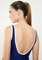 Lu-May - Contrast one piece - navy & white