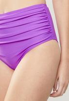 Lu-May - Supportive high waist two piece - purple