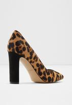 ALDO - Block heel court - brown & black