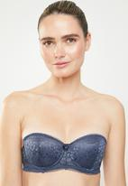 Sissy Boy - All over lace multiway underwire bra - blue