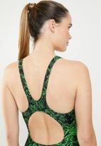 SPEEDO - Boom allover muscleback - black & green