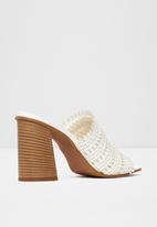ALDO - Lirella leather heel - white