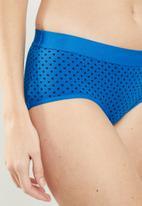 Cotton On - Sporty femme boyleg brief  - blue