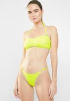 Sissy Boy - Seersucker skinny tanga bikini bottom - yellow