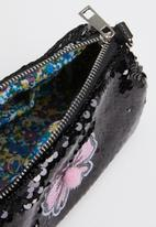 POP CANDY - Sling bag with applique bow - black